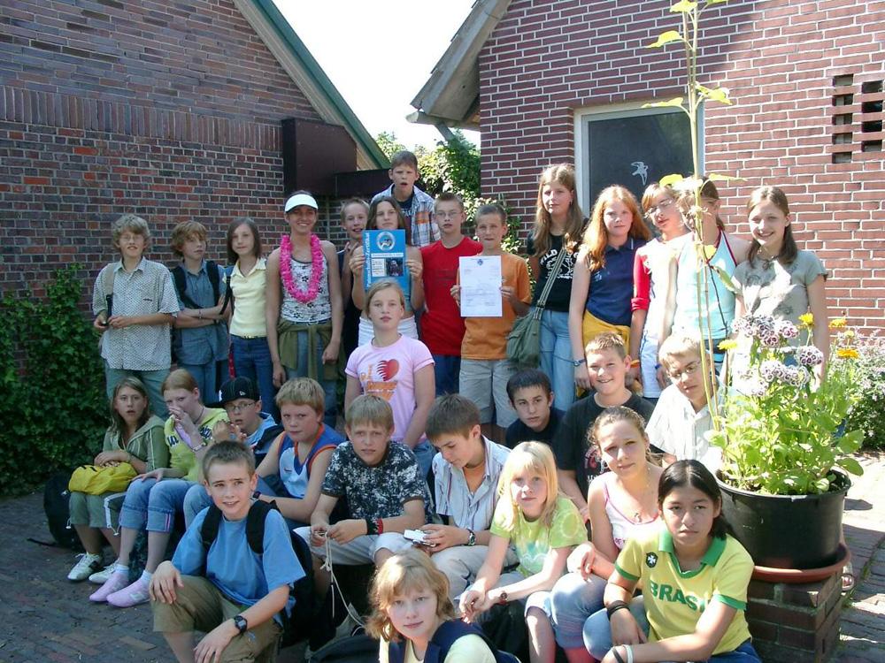 Kindergruppe in der Wildtierstation Rastede