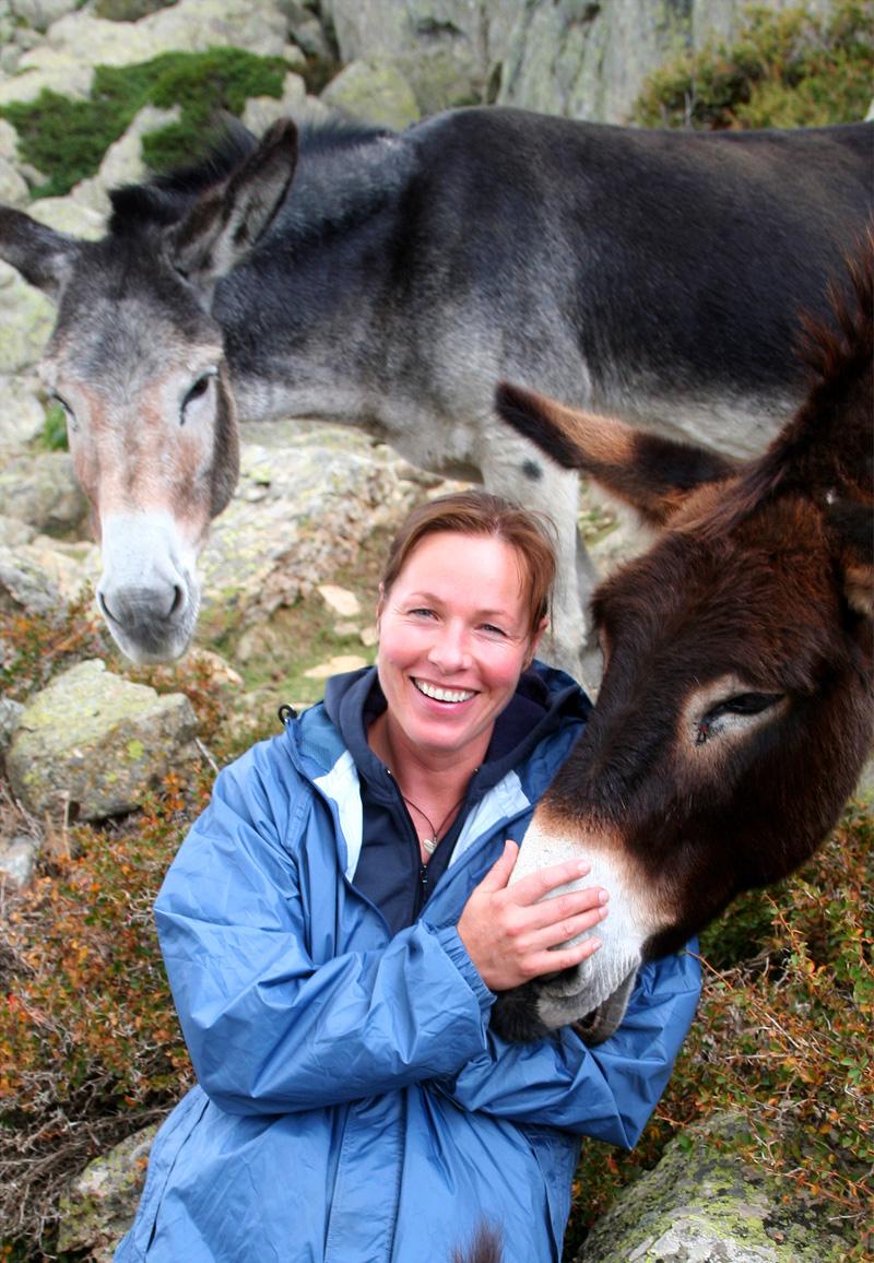 Ursula Bauer mit Esel